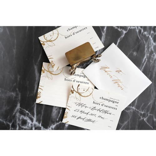 PAPER PROVISION, CHAMPAGNE & HORS D'OEUVRES INVITATION SET 8